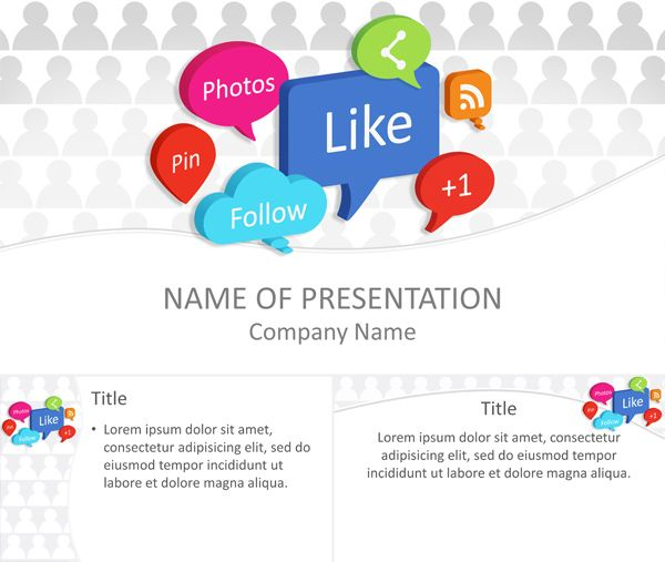 48 best business powerpoint templates images on pinterest very useful powerpoint template with social media speech bubbles on white background with light grey human shape icons this theme is a good choice for toneelgroepblik