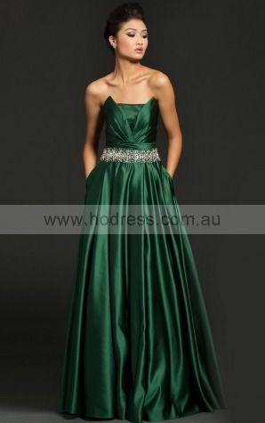 Princess Strapless Empire Sleeveless Floor-length Evening Dresses zbh072--Hodress