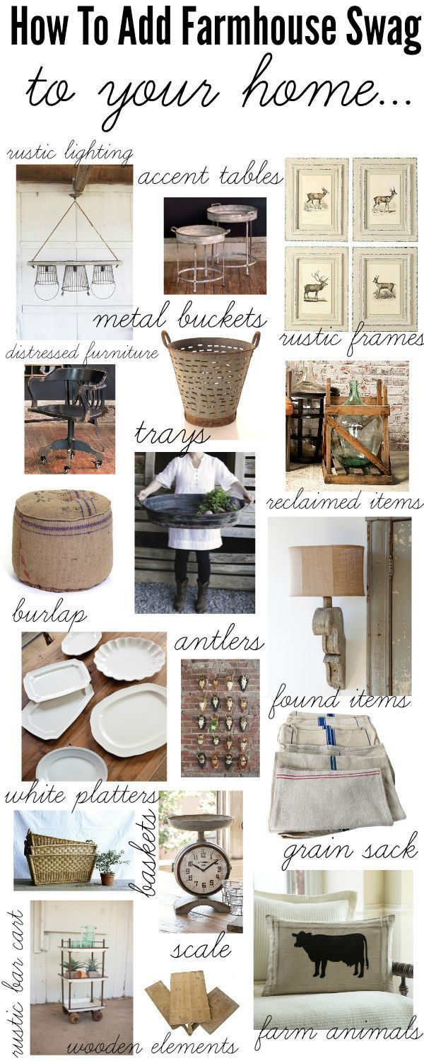 How to add farmhouse style to your home - A one stop shop with links to the items & they are all on sale!