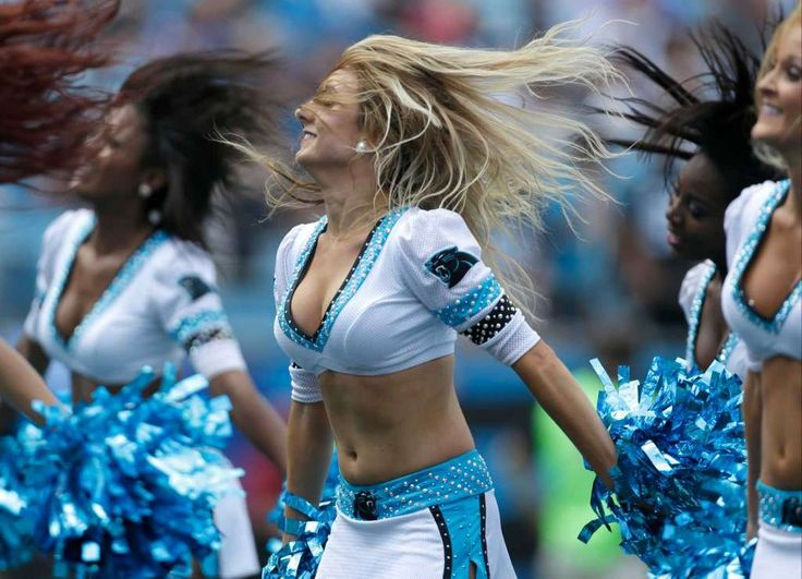 Carolina Panthers cheerleaders perform in the first half of an NFL football game against the Minnesota Vikings in Charlotte, N.C., Sunday, Sept. 25, 2016. (AP Photo/Bob Leverone) Photo: Bob Leverone, Associated Press / FR170480 AP