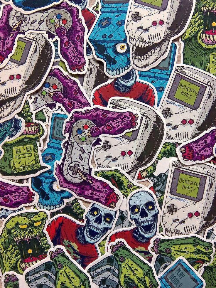 Dead Gaming Vinyl Stickers Pack de MarcosWeirdo en Etsy