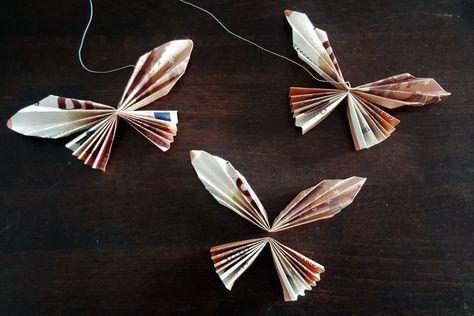 Aus Geldscheinen könnt ihr ganz einfach tolle Geld-Schmetterlinge als Geschenk (z. B. zur Hochzeit) selber basteln. Die Anleitung für das Schmetterlings-Geldgeschenk gibt es auf another-diy-blog.com