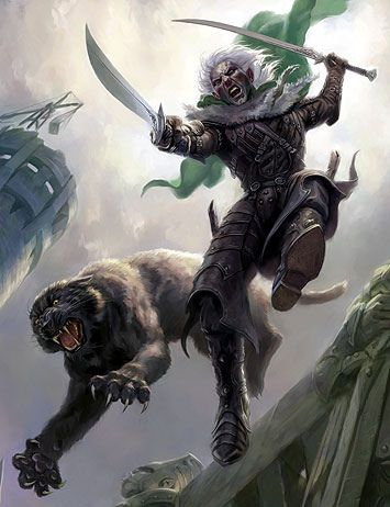 Drizzt Do'Urden, from R.A. Salvatore's Legend of Drizzt series.