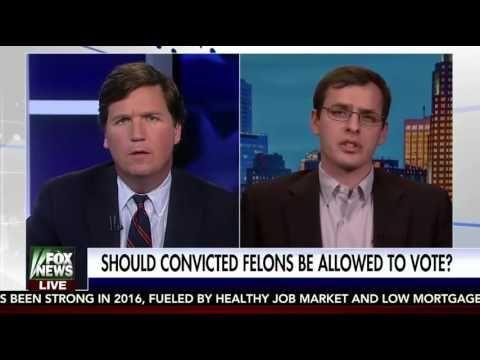 Tucker Carlson vs Spencer Woodman   On Restoring Voting Rights For Felon...