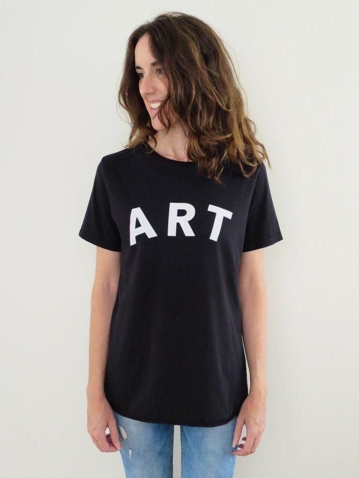 Raw Luxury Women's Art tee - black. www.rawluxury.com.au