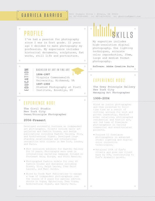 52 best Contemporary Resumes images on Pinterest Resume ideas - concise resume template