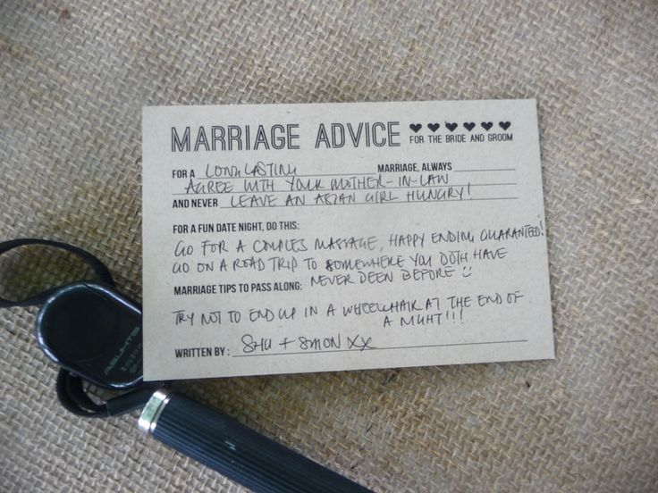 17 Best Ideas About Marriage Advice Cards On Pinterest