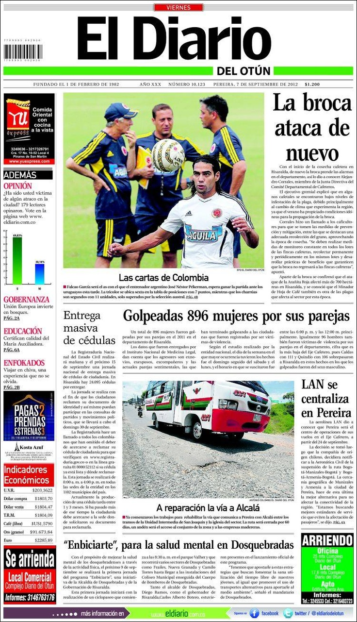 colombian spanish the best in the 2016-9-29 extensive resource of colombian newspapers for information on local issues, politics, events, celebrations, people and business in colombia, south america and looking for holiday information and ideas, as well as accommodation, shopping, bargains and weather then periódicos colombianos are the place to start.