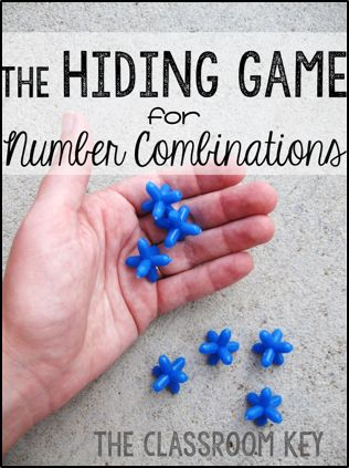 The Hiding Game, a fun and easy math game that helps students internalize number combinations, especially for 1st, and 2nd grade