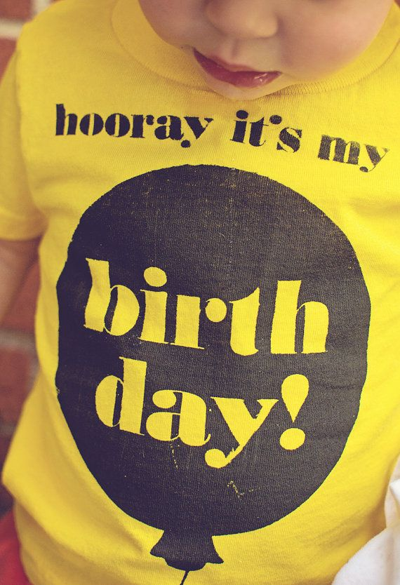 Hooray It's My Birthday // Toddler TShirt by Paperfingers on Etsy