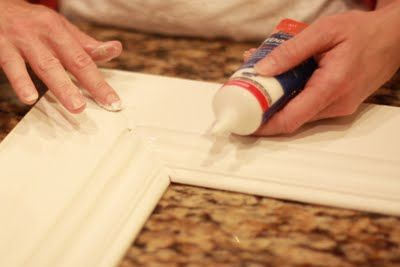 How to Make a Picture Frame- I really want to hang a large framed mirror over our mantel.