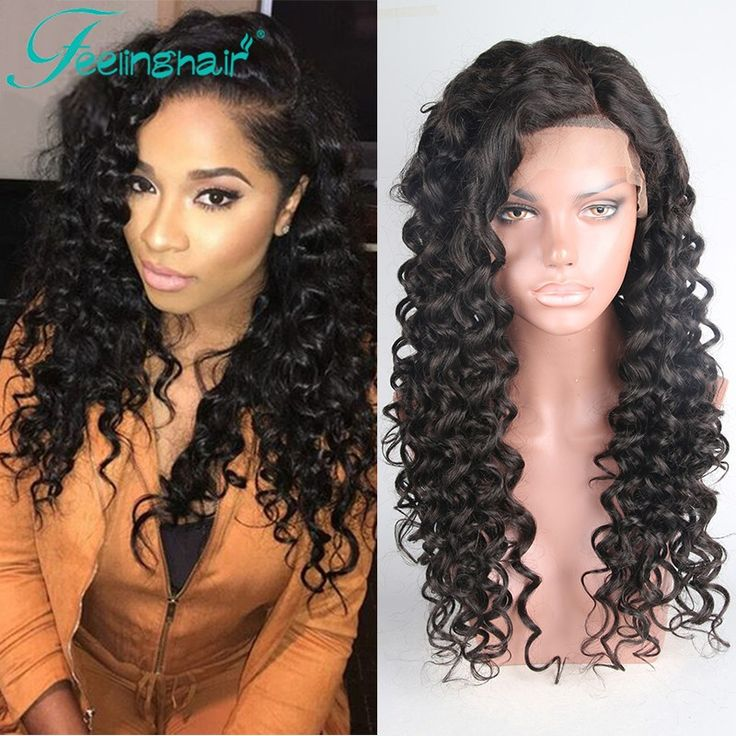 Brazilian Full Lace Human Hair Wigs For Black Women Virgin Hair Glueless Full Lace Wigs With Baby Hair,Deep Curly Lace Front Wig