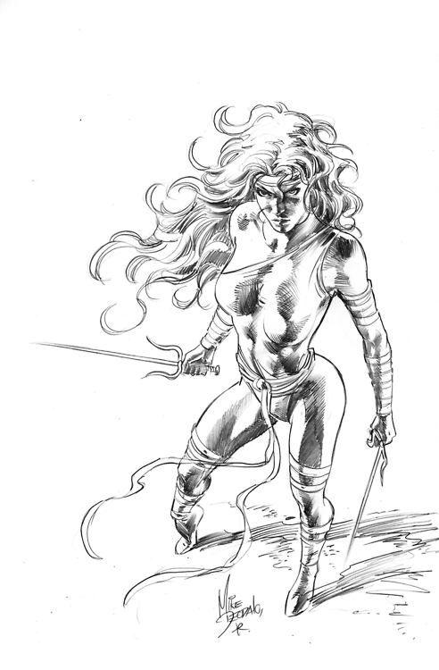 Elektra by Mike Deodato Jr.