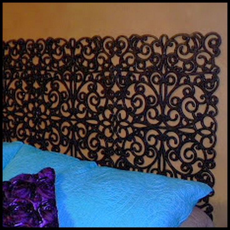dollar store iron headboard from door mats white wrought full queen bed