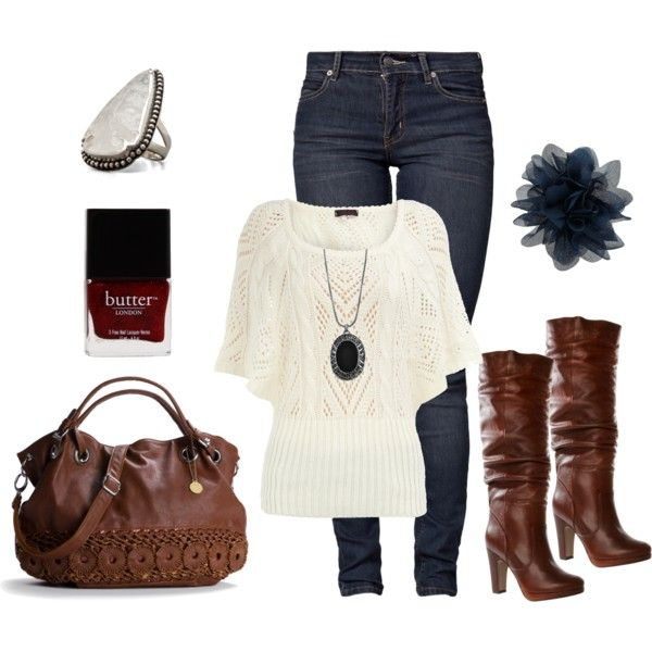 So cute...so me: Dreams Closet, Weekend Outfits, Cute Outfits, Casual Winter, Fall Outfits, Winter Outfits, Fall Boots, Brown Boots, White Tops