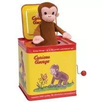 Delight youngsters with a classic Jack-in-the-Box that features everyone's favorite spunky monkey, Curious George.