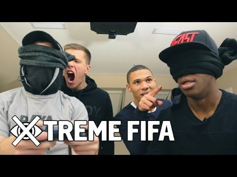 Blindfolded Fifa KSI & Gibbs VS. Fifa Playa & Szczesny