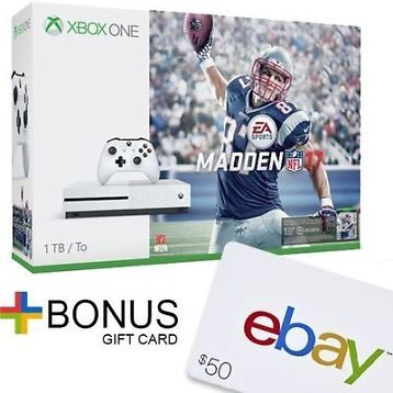 [$299.99 save 15%] Xbox One S 1TB Console - Madden NFL 17 Bundle  $50 eBay Gift Card with purchase #LavaHot http://www.lavahotdeals.com/us/cheap/xbox-1tb-console-madden-nfl-17-bundle-50/144363?utm_source=pinterest&utm_medium=rss&utm_campaign=at_lavahotdealsus