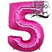 Balão Números Rosa Pink Balão Metalizado números Rosa Pink
