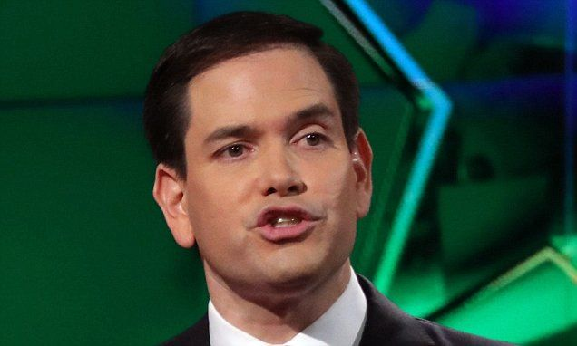 Marco Rubio and Donald Trump clash on Cuba at the Florida Republican debate 2016   Daily Mail Online