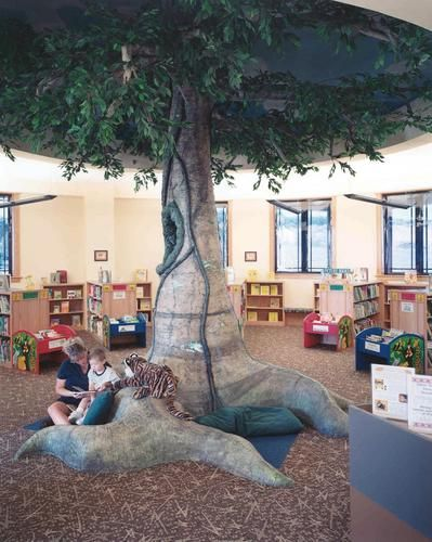 What a neat seating idea at the New Lenox Public Library!