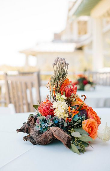 Driftwood And Tropical Flower Centerpiece By Brunswick Town Florist Part 51