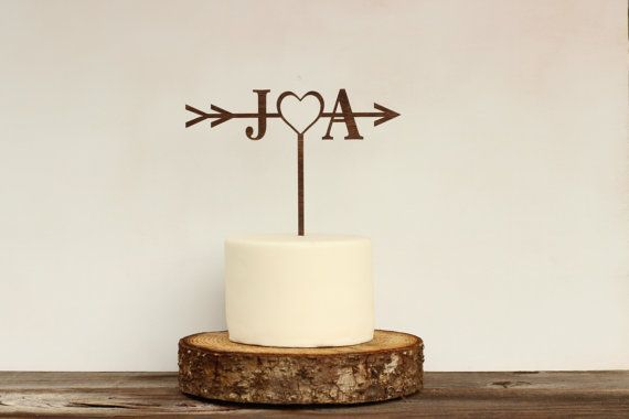 Rustic Wedding Arrow Cake Topper,Custom Cake Topper,Bridal Shower Cake Topper,Cake Toppers for Weddings,Rustic Wedding Cake Topper