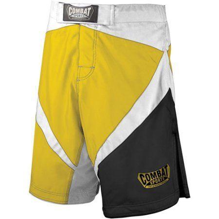 Combat Sports Fight MMA Boardshorts, Size: 36, Yellow