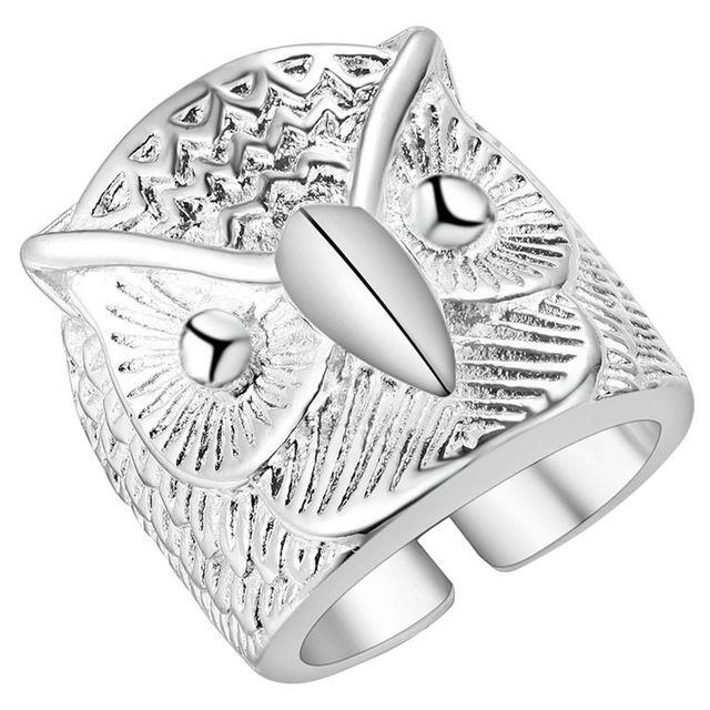 Envío gratis anillo de plata pájaro anillo unisex punky de la joyería anillo abierto accesorios brincos regalo de navidad precio de fábrica