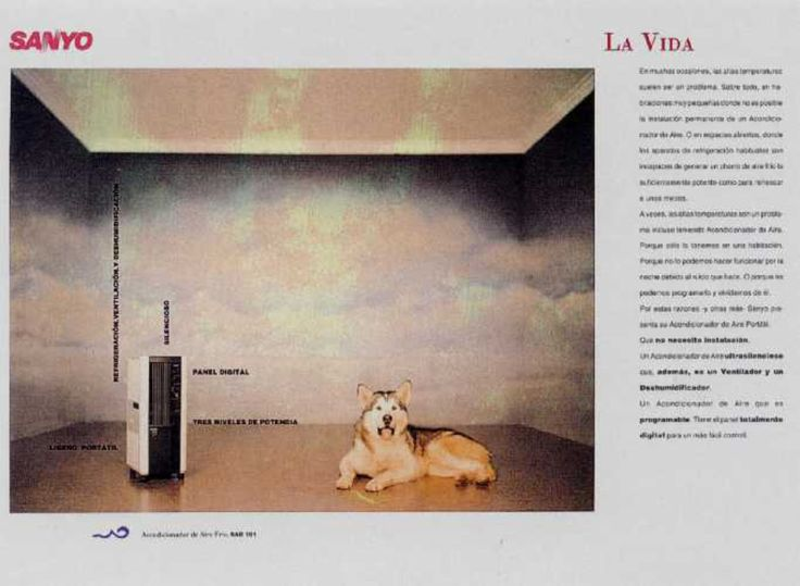 Read more: https://www.luerzersarchive.com/en/magazine/print-detail/sanyo-9768.html Sanyo Sanyo. The Life. Ads for a dryer, an air-purifier and an air-conditioner. Tags: Jaime Anglada,Lluis Morillas,Sanyo,Scacs, Barcelona,Carmen Cruz,Joan Tomas