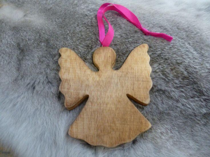 Kerst engel van hout