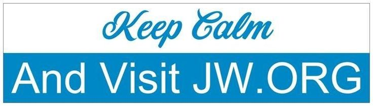 New Keep Calm and Visit JW.org BUMPER STICKER Ministry Jehovah's Witnesses Gift