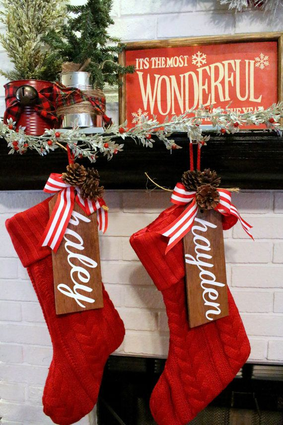 Customized Stocking Gift Tags by blessedbyHishands on Etsy                                                                                                                                                                                 More