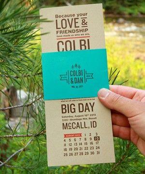 Colbi Dan S Rustic Idaho Mountain Wedding Invitations