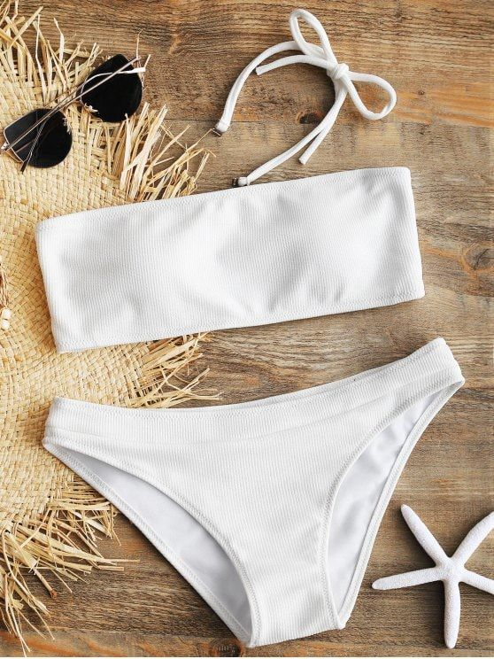 eb23726522ed2 Up to 80% OFF! Halter Ribbed Texture Bikini Set. #Zaful #Swimwear #Bikinis  zaful,zaful outfits,zaful dresses,spring outfits,summer dresses,Valentine's  Day ...
