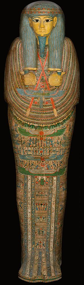 Mummy coffin of Djedmontefanch, a priest of Amun, ~ 945 BC - 712 BC