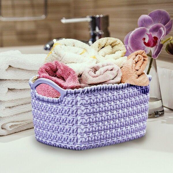Örme Sepet / Knit Basket Şık ve birbirinden güzel renk seçenekleri ile örme sepetleri evinizin her alanında kullanabilirsiniz. #knitdesign #basket #colors