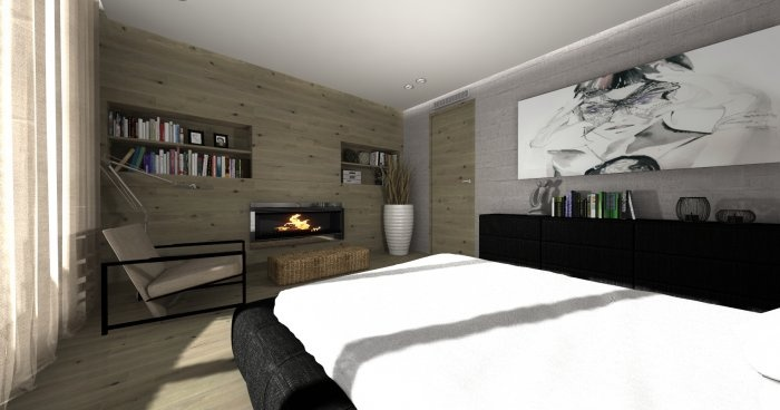 A bit of cottage house in bedroom- by SZUSZUdesign (www.szuszudesign.pl)