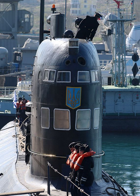 "The only Ukrainian submarine ""Zaporozhye"" became part of the Russian Black Sea Fleet. Russian military submarine prepared ""Zaporozhe"" for hauling in the Russian part of the Black Sea Fleet."