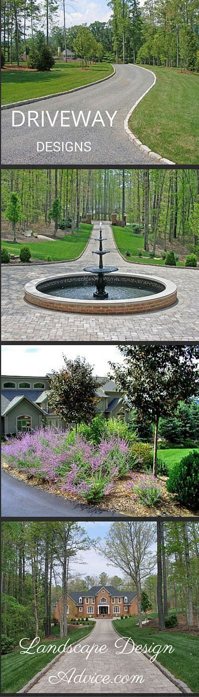 Driveways can be straight, curved, circular and more. Discover creative driveway ideas and designs. No more boring driveways. Also address the landscaping for a completed look.