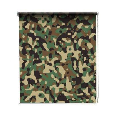 Rolgordijn Legerprint Maak jouw kamer helemaal in de legersfeer met een rolgordijn Legerprint. Bestel nu eenvoudig bij YouPri.nl #leger #legerprint #print #army #groen #rolgordijn #opmaat