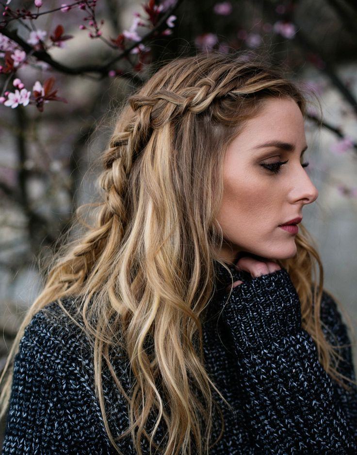 Here's how Olivia gets her braids to look this relaxed and casual without being messy:
