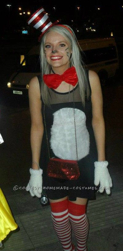 super easy homemade womens cat in the hat costume cute costumeshalloween - Unique Halloween Costume Women