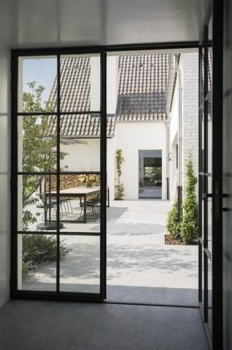 Realization 't Huis van Oordeghem, Outdoor designers, Belgium (Beauty Design Glass Doors)