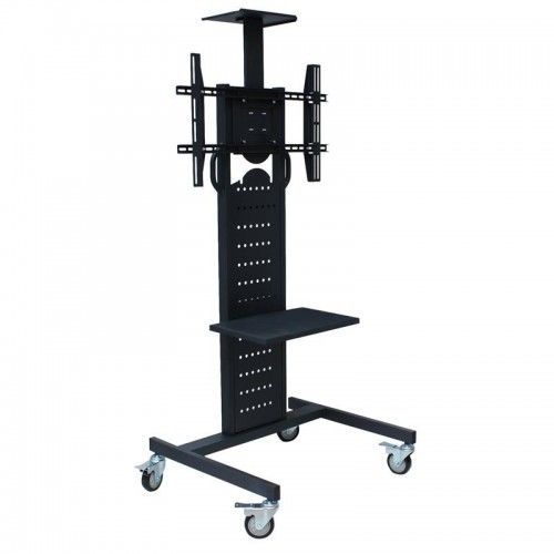 """HomCom Portable Flat Panel TV Stand with Wheels 32"""" to 79"""""""