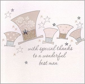 Handmade Best Man Or Usher Thank You Card - wedding stationery