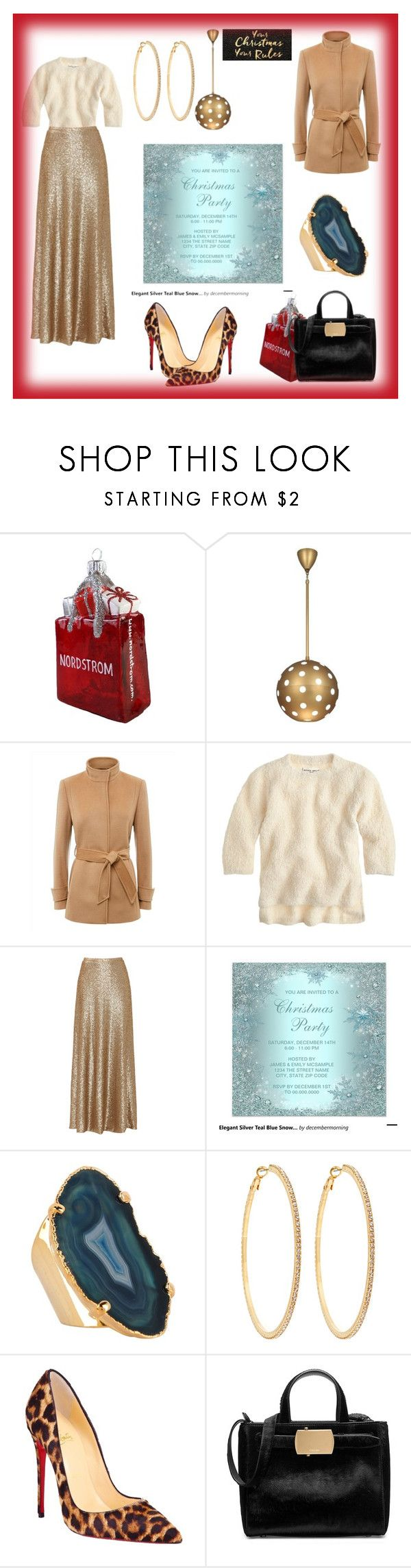 """Happy Holiday, Merry Christmas"" by sade-aladejana-lewis on Polyvore featuring Nordstrom, House of Fraser, Robert Abbey, Jaeger, Apiece Apart, Slate & Willow, Valerie Nahmani Designs, Roberta Chiarella, Christian Louboutin and Calvin Klein"