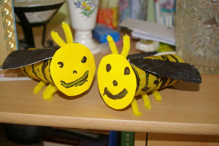 bijen knutselen met kleuters