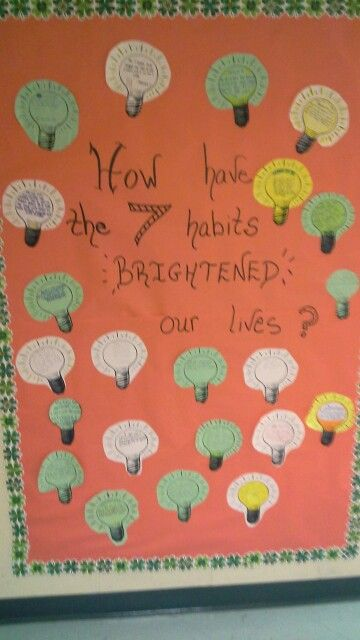 Classroom Ideas Secondary ~ Habits bulletin board environment leader in me