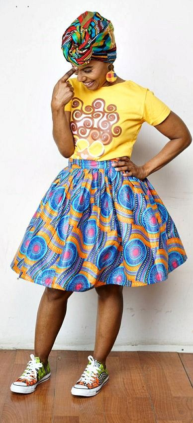 K A M A N I Belle Skirt Made with African Batik Wax - Maji Collection. Ankara | Dutch wax | Kente | Kitenge | Dashiki | African print dress | African fashion | African women dresses | African prints | Nigerian style | Ghanaian fashion | Senegal fashion | Kenya fashion | Nigerian fashion | Ankara crop top (affiliate)
